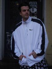 Nike Sportjacke Windbreaker Trainingjacke  weiß 90er True VINTAGE jacket trikot