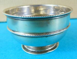 Edwardian Sterling Silver Bowl Beaded Rings Charles Boyton & Son London 1904