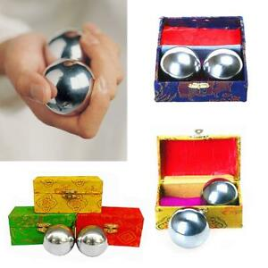 38mm Baoding Balls Chinese Health Exercise Stress Relief Chrome Color