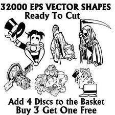 32000 Vector Vinyl Plotter Cutter DVD Over 2GB Image files eps vector UK