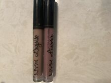 NYX Lingerie Liquid Lipstick Lot Of 2 Full Size Pink And Brown