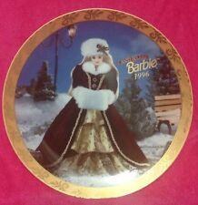 Enesco Barbie Collectors Plate Happy Holidays 1996  Ltd Edition Mattel 17,847