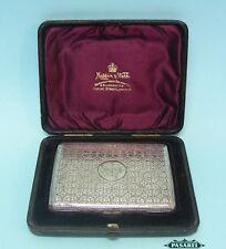 Sterling Silver Card Case Aide Memoire Frederick Marson England 1897