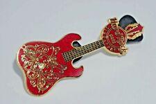 "Hard Rock Cafe Pins - Vintage Singapore ""Love ,Peace, Rock"" Guitar Ltd Edition"