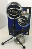 Blue Snowball USB Microphone (Brushed Aluminum) Excellent Condition