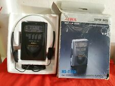 Vintage portable Fm/Am Cassette Player Aiwa Super Bass Hs-T110 works great
