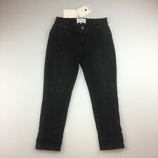 Girls Size 5 Country Road Black Distressed BOYFRIEND Jeans Adjustable