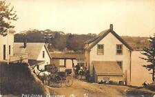Southport ME  Post Office Ice Cream Horse & Wagons Water View RPPC Postcard