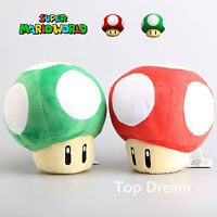 "Nintendo Super Mario Bros. Characters Mushroom 9"" Plush Doll Soft Toy 4 Styles"