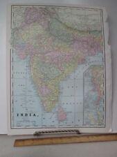 Vintage Print,INDIA,Map,Geo.Cram,c1899
