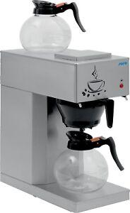 Gastronomie Kaffeemaschine mit 2 Glaskannen, Saro Gastro Filterkaffeemaschine
