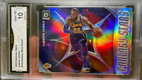 2019 PANINI PRIZM Silver Optic Holo LEBRON JAMES  10 GEM MINT Hall Of Fame