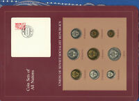 Coin Sets of All Nations USSR Russia UNC 1 Ruble 2,3,5,10,15,20,50 Kopecks 1978