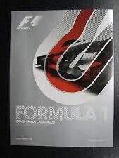 Program 2011 Formula 1 Grand Prix du Canada 10-12 Juin Montréal (PBE)