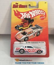 '86 Ford Thunderbird Pro Stock * WHITE * Hot Wheels The Hot Ones * WC8