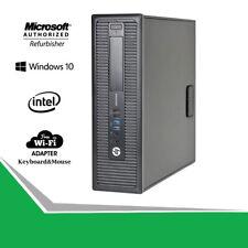 HP 800 G1 SFF Fast Slim Desktop Computer PC Core i5-4570 16G RAM 1TB HD WiFi Win