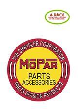 Mopar Parts Sticker Vinyl Decal 4 Pack