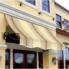 "Awntech 3' Charleston Window Awning, 44"" x 24"", Gray/Cream/Black"