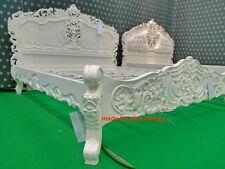 UK STOCK King Size 5' Color Crema Stile Francese Designer Rococò letto... Alta qualità
