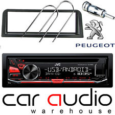 Peugeot 106 JVC CD MP3 USB AUX In RED Display Car Stereo Player & Fitting Kit