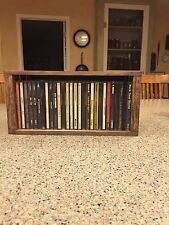 CD Storage/Holder Rustic Wood Crate