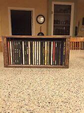 CD Storage/Holder Rustic Wood Crate