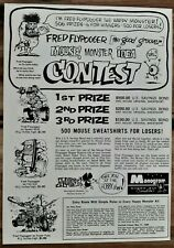 VINTAGE 1965 MONOGRAM MONSTERS BY MOUSE FRED FLYPOGGER CONTEST ADVERTISEMENT