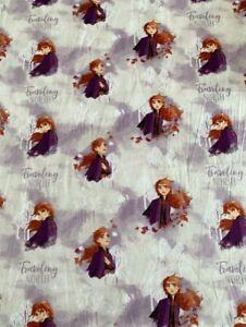HALF METRE-Disney FROZEN ANNA cotton fabric,Disney Frozen Fabric..