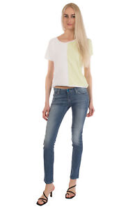 RRP€250 ARMANI JEANS Skinny Jeans Size 24 Stretch Distressed Faded Worn Look