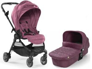 Baby Jogger City Tour Lux Stroller w/ Bassinet Kit Pram Travel System Rosewood