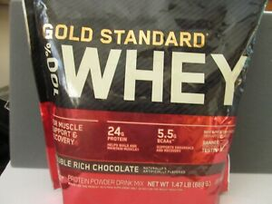 Optimum Nutrition Gold Standard 100% Whey Protein Powder, Double Chocolate exp22