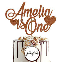 Cake Topper Personalised Custom 1st 2nd Birthday First Child One Glitter 1 2 3