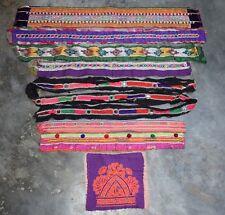 8X Kuchi Trims Rare Vintage Gypsy Rabari Heavy Embroidery Banjara Boho Festival