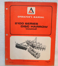 Allis Chalmers 2100 Series Disc Harrow Mounted Operators Manual