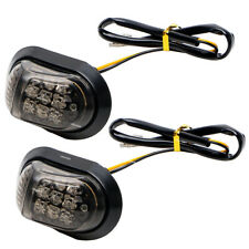 2Pcs Motorcycle 9 LED Flush Mount Turn Signals Indicators Blinker Light 12V