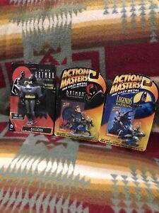 1994 Kenner Batman 2 Diecast Figures, Action Masters, Legends & Animated, Sealed