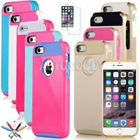 Shockproof Dirt Dust Proof Hard Cover Case for iPhone 6 / 6S / 5 / 5S / SE #G9