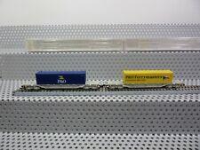 Fleischmann N 825503 Güterwagen-Set 2-teilig Containertragwagen der NS in OVP