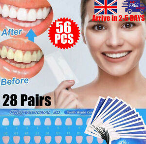 56X 3D Teeth Whiteing Strips bleaching Professional White Tooth UK STOCK