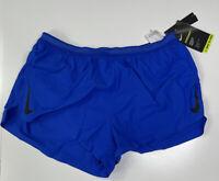 "Nike AeroSwift 2"" Running Shorts CJ7837 405 Blue/Black New Men's Size L"
