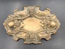 Vide-poche en bronze Rocaille aux mascarons début XXe Antique bronze cup