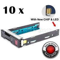 10 x HP 651314-001 Gen8 Drive Caddy 3.5 HDD Tray ProLiant DL380p DL360p DL385 G9