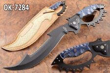 "18"" KMA CUTLERY 52100 BEARING STEEL BLACK COATED SPARTAN BOWIE BLADE KNIFE 7284"