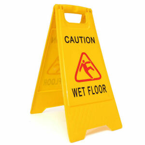 Non-Slip Warning Sign Cleaning in Progress Warning Cone Yellow Caution Wet Sign