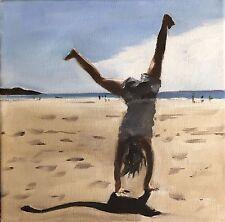Biglietti D'auguri Spiaggia Girl da Pittura da James Coates vuoto all'interno