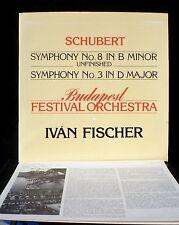 Schubert Symphonies 3 & 8 Ivan Fischer LP M, CV EX.