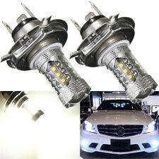2x 12V H4 80W 6000K Super White LED White Fog Turn Head Car Light Lamp Bulbs