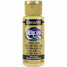 DecoArt Americana Acrylic Paint - Yellow Ochre - 59ml (2 fl.oz)