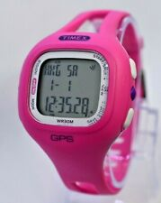 Ladies TIMEX GPS Watch, Pink Resin Case, Indiglo, Works, T5K697 (Watch Only) B