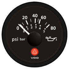 VDO VIEWLINE ONYX 80 PSI/5 BAR OIL PRESSURE GAUGE 12/24V